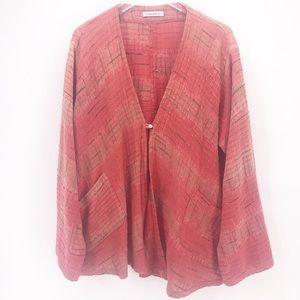 Yasuko Kurisaka Kimono Style Front Button Cardigan